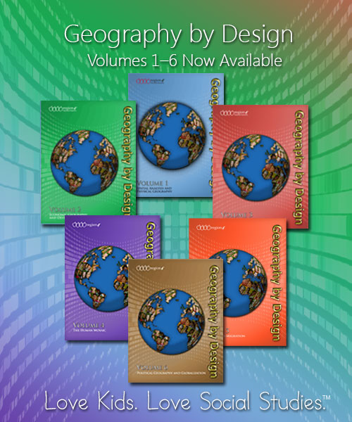 Geography by Design Volumes 1-4 now available